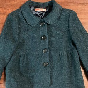 Vintage Blazer Teal with Silver Threading